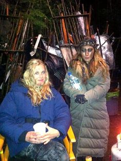The 100 cast II Clarke Griffin (Eliza Taylor) and Anya (Dichen Lachman)