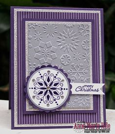 handmade card ... monochromatic purple ... live all the purples on this card…