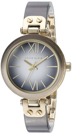 Anne Klein Women's AK/2212GYGB Grey Ombre Resin Bangle Watch -- Want to know more about the watch, click on the image.