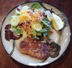 Gorton's Garlic and Herb Skillet Crisp Tilapia w/ salad from http://couponingtobedebtfree.com for Gorton's Seafood Challenge Review
