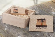 Brilliant idea from Splendid Photography via their #Twitter page @WeddingSplendid - your images on a personalised wooden usb and presentation box #weddingphotography #wedding