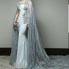Brides on a budget can have inspired wedding dresses made & recreations of haute couture bridal designs produced here in the USA. Couture Dresses, Fashion Dresses, Fantasy Gowns, Luxury Dress, Colored Wedding Dresses, Mode Inspiration, Elie Saab, Beautiful Gowns, Dream Dress