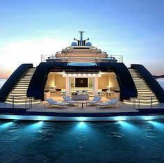 Mega Yacht lifestyle by our great friend by worldwide_luxury Luxury Yacht Interior, Luxury Cars, Luxury Travel, Yacht Design, Super Yachts, Private Yacht, Cool Boats, Small Boats, Luxury Homes Dream Houses