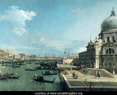 The Entrance to the Grand Canal, Venice  (Giovanni Antonio Canal) Canaletto