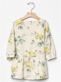 Floral drop-waist dress   Gap