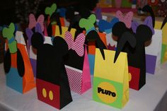 Favors at a Mickey Mouse Clubhouse Party #mickeymouse #clubhouse