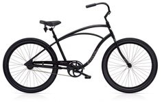 """Electra Cruiser Lux 1 26"""" Men's Matte Black Aluminum Frame. $399.99 plus tax and shipping or pick-up in store. Call for details (949) 675.5010"""