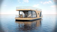 Buy a houseboat - swimming house Nautilus Vagabund Or do you want to sell a boat (powerboat)? On Yachtall you find a big choice of yachts and boats for sale. Floating Boat, Floating House, Boat Dock, Pontoon Boat, Pontoon Houseboat, Nautilus, Schwimmendes Boot, Floating Architecture, Utility Boat