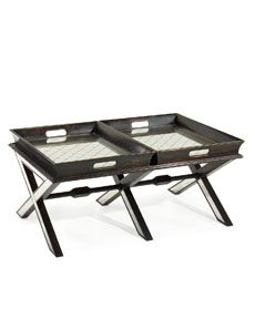 John-Richard Collection Coffee Table with Butler Trays