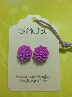 Fuchsia Dahlia Earrings. $10.00, via Etsy.