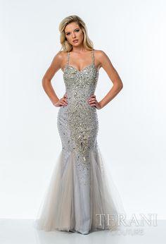 Feel sexy in #TeraniCouture mermaid dress. Style: 1611GL0472 ...