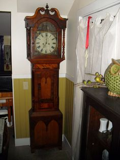 ANTIQUE TALL CASE Charles of LouthC. Pailthorp by JUNKMANSGAL