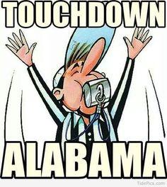 Even cartoons favor Alabama Alabama Football Quotes, Alabama College Football, University Of Alabama, Football Memes, Football Team, Packers Football, Football Season, Crimson Tide Football, Alabama Crimson Tide