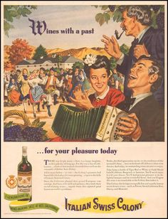 Wine, dancing, an accordion, a funny pipe, and ladies in babushkas.  Everything you need for your pleasure today.  (Life, 1944)
