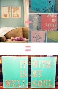 DIY Quote Wall Art