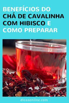 Chá de cavalinha com hibisco Medicinal Plants, Crepes, Tea Time, Natural Remedies, Good Food, Spices, Low Carb, Healing, Blog
