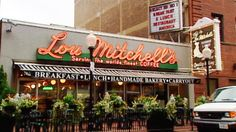 Lou Mitchell's You haven't had breakfast in Chicago until you've eaten at Lou's! Enough fresh eggs have been cracked, made into omelettes, cooked in skillets and sold at Lou Mitchell's to go side-by-side more than a few times around the world. Today Lou Mitchell's is a Chicago institution.
