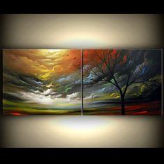 art original painting tree painting art abstract art by mattsart