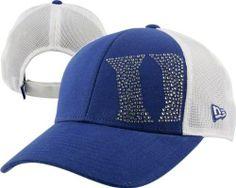 a8f435b8eebed Duke Blue Devils Women s New Era Jersey Shimmer Adjustable Trucker Mesh Hat  by New Era.