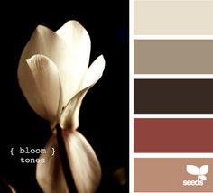 more bloom tones design seeds fall wedding hues tones shades fall color palette autumn color palette, color inspiration cards Color Palette For Home, Colour Pallette, Color Palate, Color Tones, Neutral Tones, Paint Schemes, Colour Schemes, Color Combos, Design Seeds