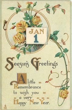 SEASON'S GREETINGS A LITTLE REMEMBRANCETO WISH YOU A VERY HAPPY NEW ...