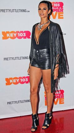Share, rate and discuss pictures of Alesha Dixon's feet on wikiFeet - the most comprehensive celebrity feet database to ever have existed. Black Leather Mini Skirt, Leather Shorts, Celebrity Faces, Celebrity Style, Alisha Dixon, Curvy Bikini, Wet Look Leggings, Glamour, Tv Presenters