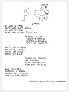 ALFABETIZAÇÃO CEFAPRO DE PONTES E LACERDA : Alfabeto com Parlenda