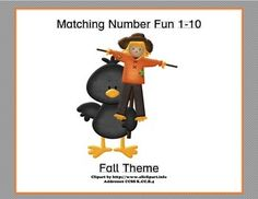 This fun themed matching game has your students matching the numeral and the word to the number of Fall images. They count, identify the correct numeral, and read the word as well. All great practice while they're having fun. Two suggested activities are included.