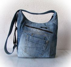 blue jeans messenger bag denim crossbody bag patchwork