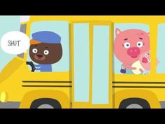 Wheels on the Bus music videos for kids. Helps teach parts of a bus (wheels, door, wipers, horn), and is a great action song to get kids up and moving! Kids Songs With Actions, Kids Music Videos, Fun Songs For Kids, Rhymes For Kids, Music For Kids, Transportation Theme For Toddlers, Transportation Theme Preschool, Wheels On The Bus, English