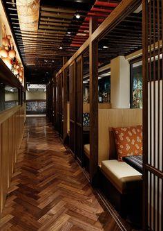 Heijouen yakiniku restaurant by HaKo Design, Matsubara – Japan Japanese Restaurant Interior, Japanese Interior, Restaurant Interior Design, Modern Interior Design, Restaurant Lighting, Cafe Restaurant, Design Blog, Cafe Design, Asian Restaurants
