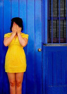 yellow dress blue door