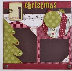 "Kiwi Lane Design Templates Scrapbook Layout ""1st Christmas"""