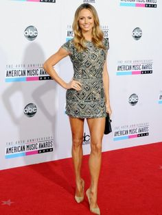 Stacy Keibler in Collette Dinnigan at the American Music Awards!