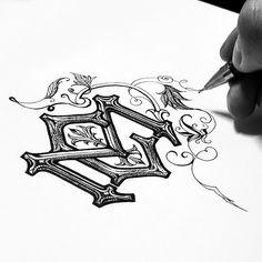 Kidon Bae CM monogram sketch