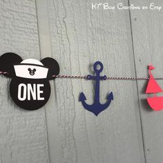 Mickey Sailor Garland Mickey Mouse Sailor Banner Mickey