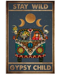 Hippie Peace, Hippie Art, Yoga Studio Design, Hippie Posters, Stay Wild Moon Child, Kids Poster, Mundo Animal, Cat Art, Vintage Posters