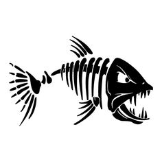 Mad Fish Vinyl Decal Sticker Window JDM Gift Family Fishing Homemade Laptop Free Fast Shipping by OklahomiesShop on Etsy Skeleton Drawings, Fish Skeleton, Skeleton Bones, Funny Decals, Vinyl Decals, Wall Decal, Kayak Decals, Boat Decals, Desenho New School