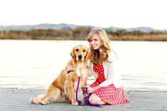 Senior Picture with dog. I love this one!