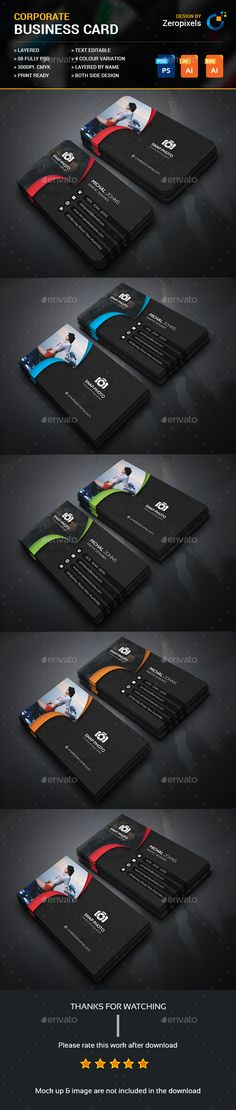 Photography Business Card — Photoshop PSD #white #professional • Available here → https://graphicriver.net/item/photography-business-card/17362157?ref=pxcr