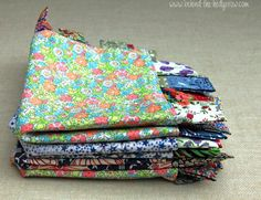 Doudou à étiquette ! (tuto) http://behind-the-hedgerow.com/2013/10/09/tutorial-liberty-print-baby-comfort-taggie-blanket/