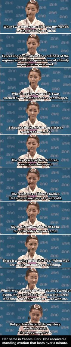 Her name is Yeonmi Park.