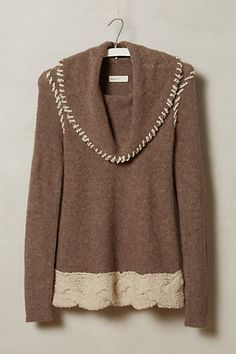 Whipstitched Boucle Sweater brown wool/nylon/acrylic/alpaca/linen (98.00) NA 10/15