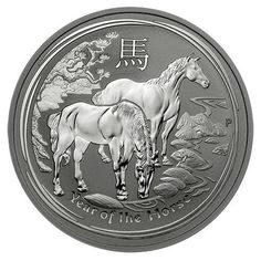 """2014 Year of the Horse Silver Coins have just been released!  The Perth Mint has released the first of the 2014 """"Year of the Horse"""" Silver Coins to the American Public. Minted as part of the Australian Silver Lunar Coin Series, these coins have limited worldwide mintages and a new design each year representing the ancient Chinese Lunar Calendar. The magnificent Silver Coins are struck in .999 fine Silver and are now available in the large Kilo size Silver Bullion Coin.:"""