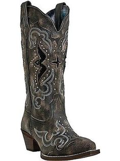 These may be the ones. Women's Laredo Sanded w/ Black Underlay & Studs Snip Toe Western Boots 52133
