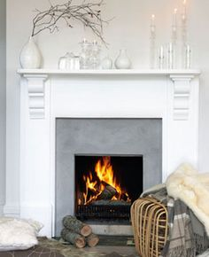 Fireplace by The Classy Home Living Room Flooring, Home Living Room, Living Room Decor, Living Spaces, Fireplace Mantle, Fireplace Design, Basement Inspiration, Lets Stay Home, Beautiful Interiors