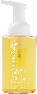 ULTASparkling Lemon Foaming Hand Soap Vitamins For Skin, Vitamin E, Aloe, Moisturizer, Conditioner, Lemon, Fragrance, Healing