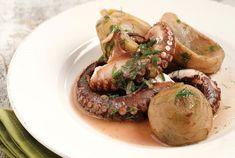 Χταπόδι µε αγκινάρες και άνηθο Secret Menu, Food Categories, Yams, Mediterranean Recipes, Octopus, Hummus, Baked Potato, Cooking Recipes, Chicken
