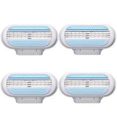 4 Unids/set 3-Blade Navaja de Afeitar femenina de las mujeres Versión cuchilla de afeitar cuchillas de afeitar para mujeres en Original Envío Gratis