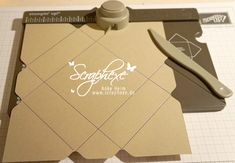 Using envelope punch board to make flat box for card maybe?